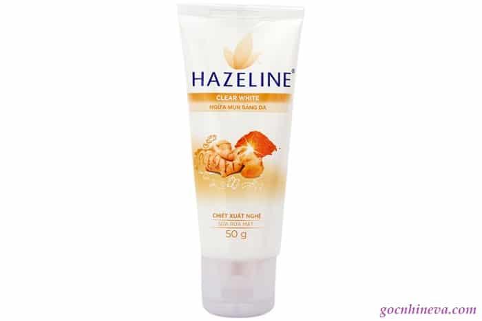 sữa rửa mặt Hazeline nghệ