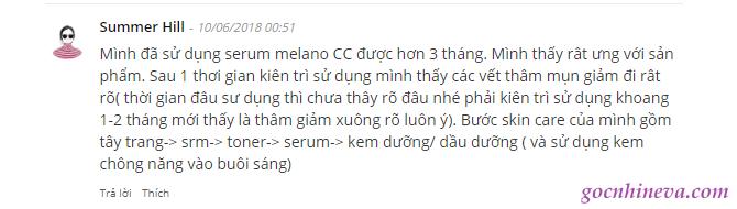 bình luận về Melano CC