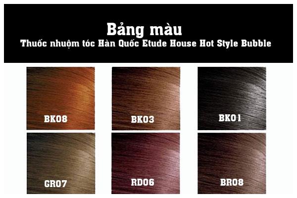 Màu thuốc nhuộm tóc Etude House Hot Style Bubble