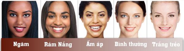 chọn thuốc nhuộm tóc phù hợp với làn da