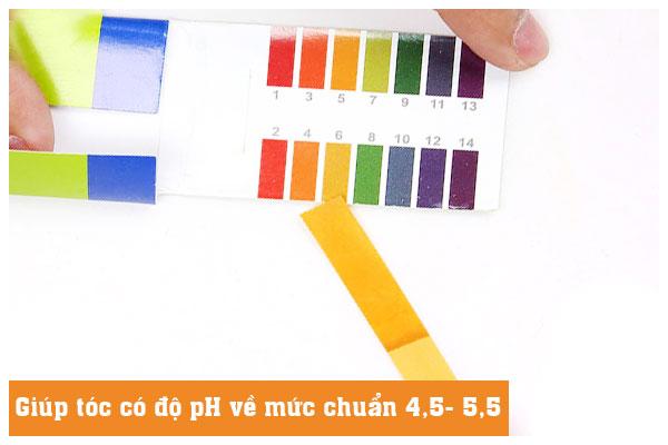 Dầu dưỡng tóc và tinh dầu dưỡng tóc cân bằng độ pH