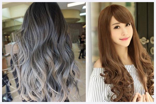 mái tóc màu cá tính bằng thuốc nhuộm tóc