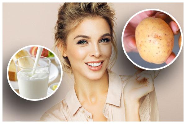 Sữa tươi và khoai tây giúp bạn trị mụn đầu đen