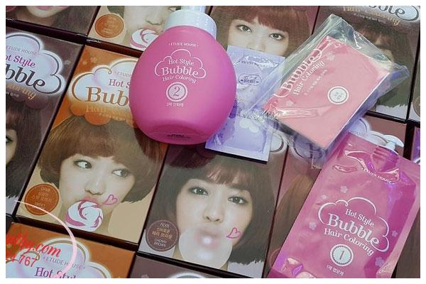 Thuốc nhuộm tóc Hàn Quốc Etude House Hot Style Bubble