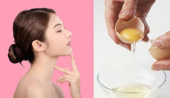 Trị mụn cám bằng lòng trắng trứng