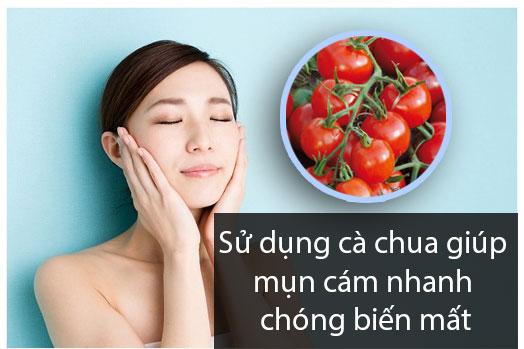 Cách trị mụn cám tại nhà bằng cà chua