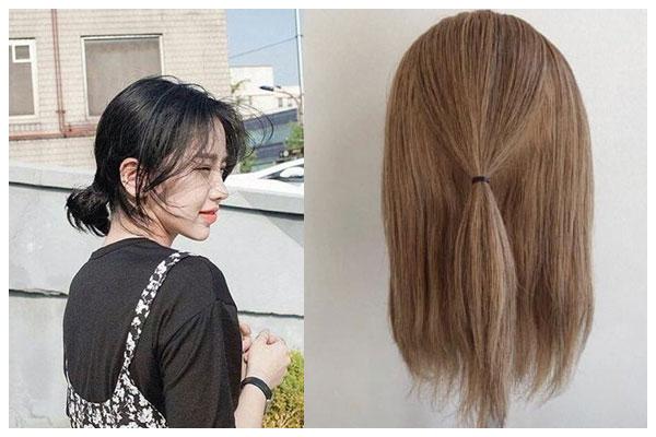 Tóc ngắn buộc đơn giản