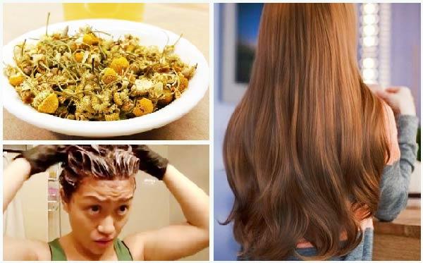 nhuộm tóc bằng trà hoa cúc, khoai tây và nước cốt chanh