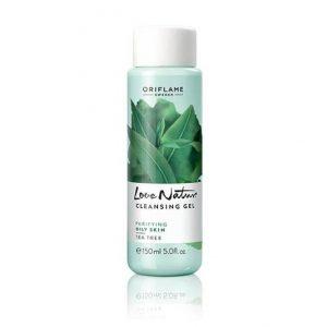 Sữa rửa mặt trà xanh Oriflame Love Nature Cleansing Gel Tea Tree