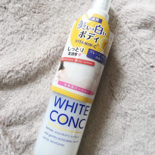 Dưỡng thể White Conc dạng xịt 245ml vitamin c