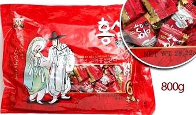 Kẹo hồng sâm ông già bà lão gói 800g Hwanwoong 800g