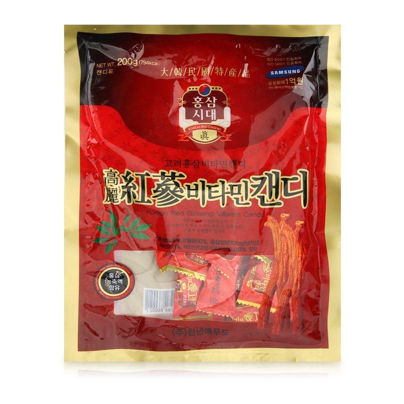 Kẹo hồng sâm Vitamin Hàn Quốc Korean Red Ginseng 200g