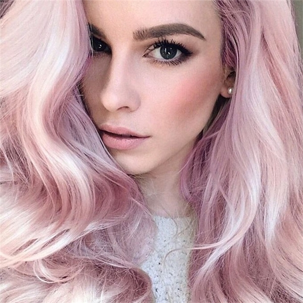 bạch kim ánh hồng pastel