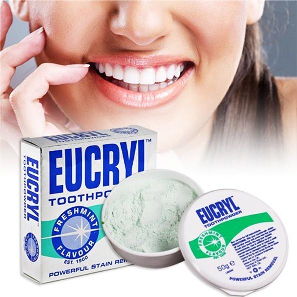 Công dụng của bột trắng răng eucryl