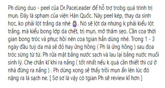 Peel da vi tảo Hàn Quốc Duo Peel Dr.PaceLeader REVIEW