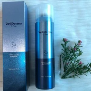 REVIEW xịt chống nắng Wellderma G PLus Cooling Sun Spray 180ml
