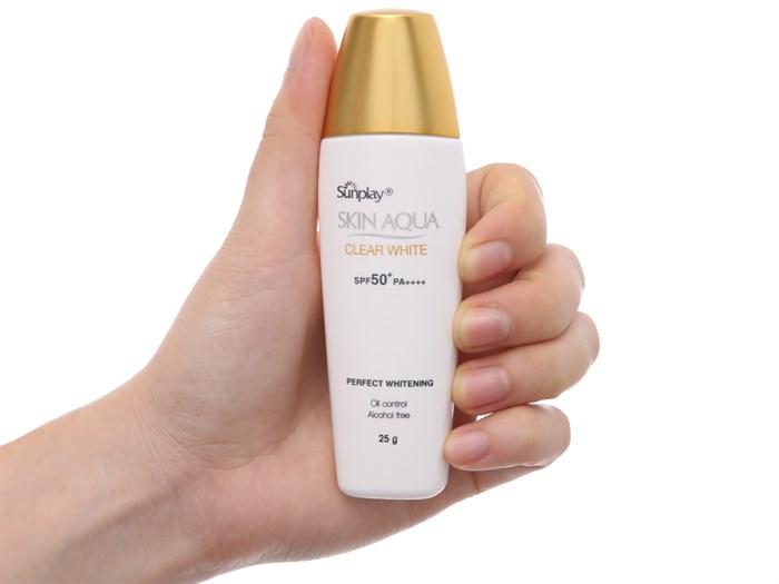 Thành phần chống nắng của sunplay skin aqua clear white