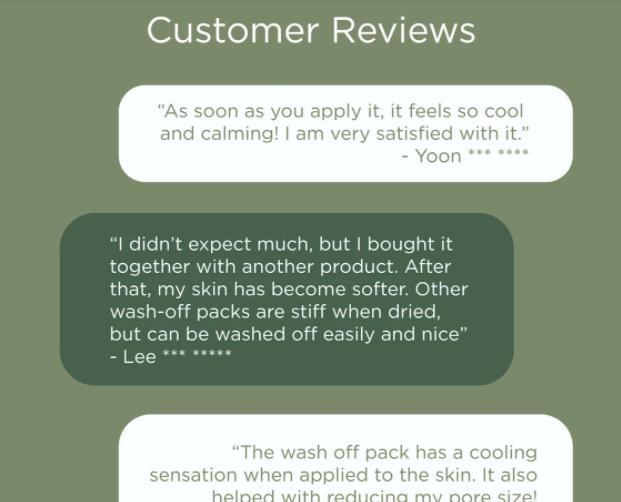 Review mặt nạ thiên nhiên I'mele Laurel Green Repair Wash Off Pack