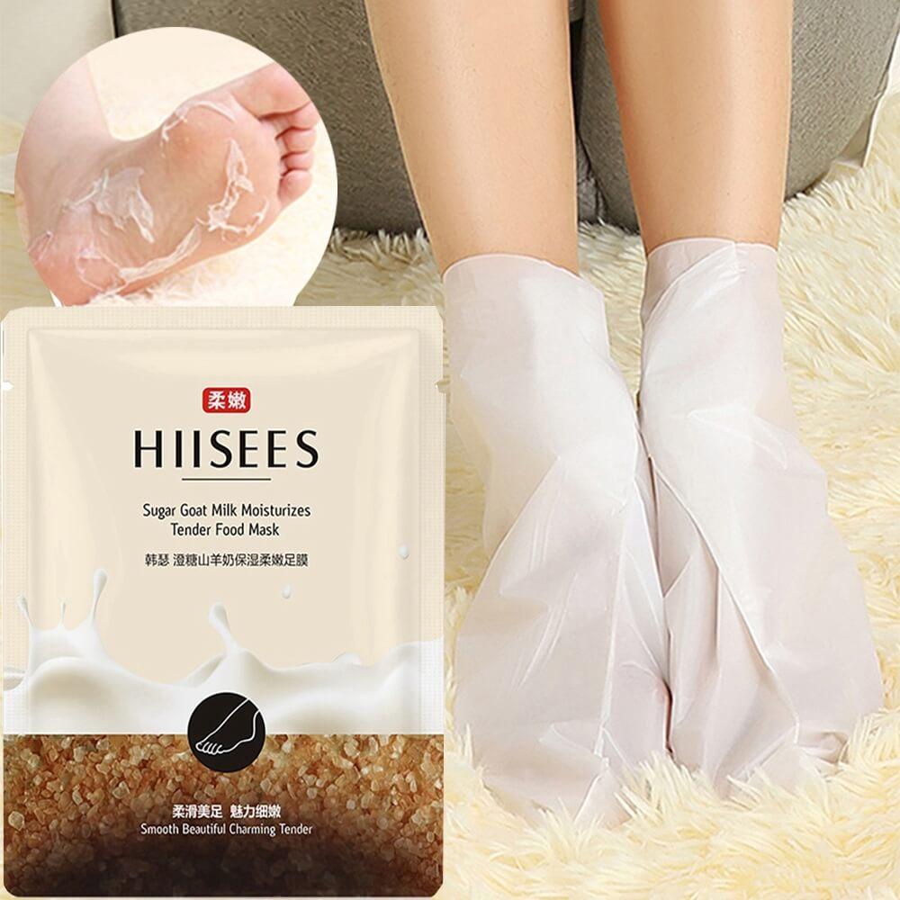 Mặt nạ sữa dê ủ chân lột da chết Hiisees