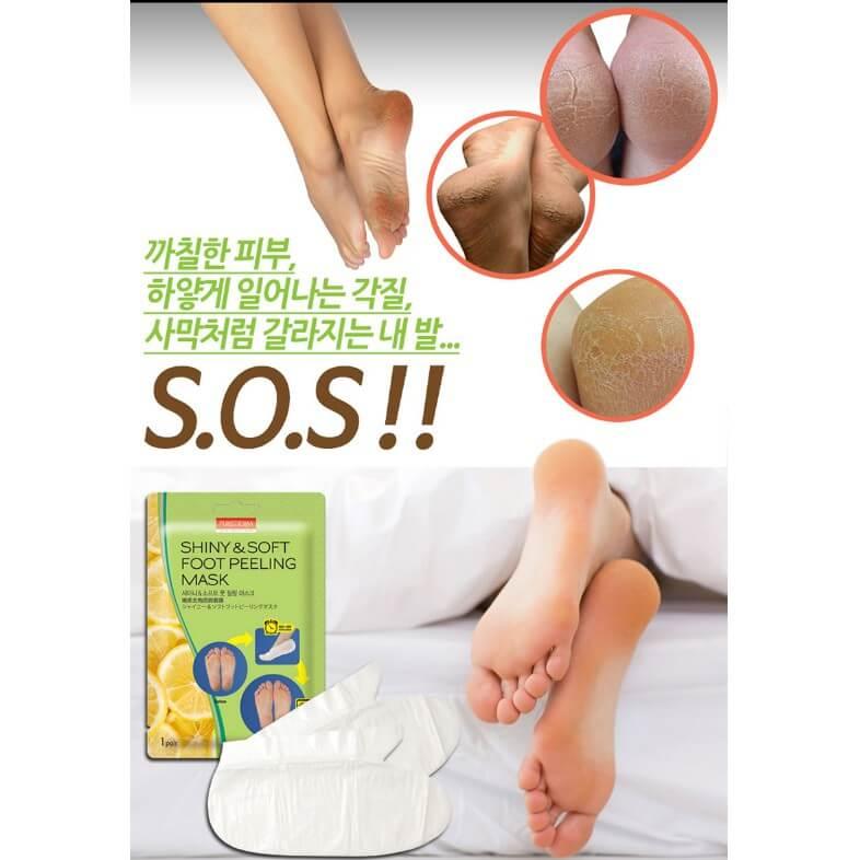Mặt nạ dưỡng da chân Purederm Foot Peeling Mask